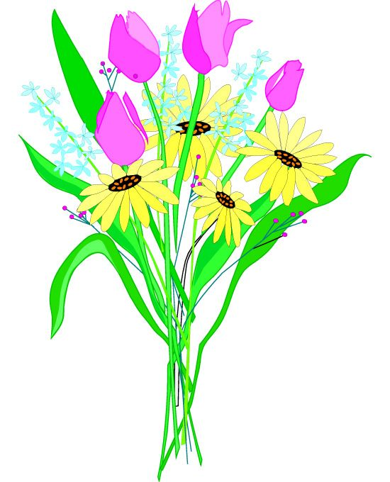 free clipart bouquet of flowers - photo #5