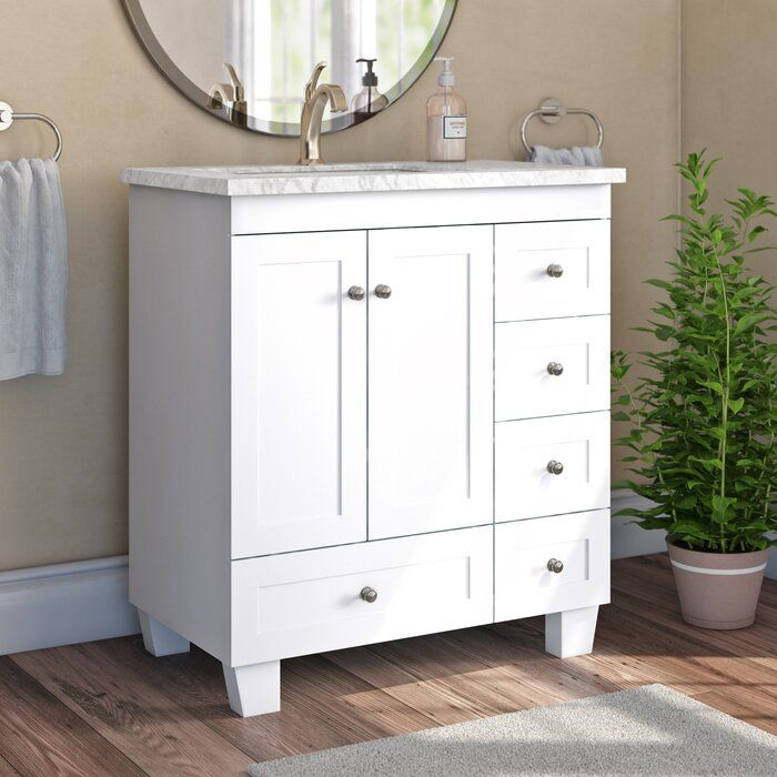 Darby Home Co Kyndra Transitional 31 Single Bathroom Vanity Set Reviews Wayfair Single Bathroom Vanity Vanity Set Bathroom Vanity
