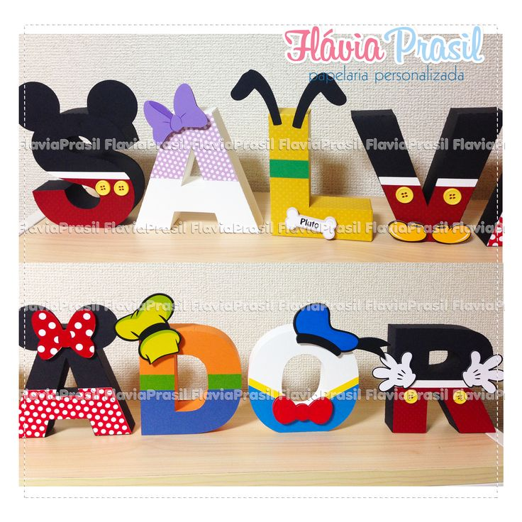 Letras 3d Turma do Mickey