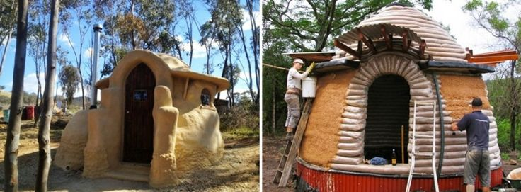 Un domo de barro en la granja
