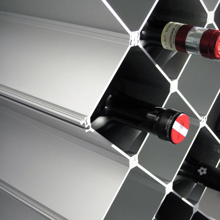 Modular wine rack Nucleus