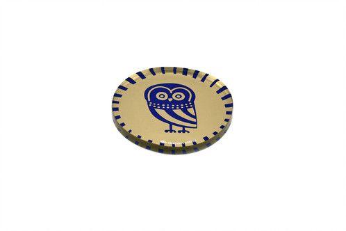 Owl | plexiglass coaster | screenprinted & lazer cutted | designed and made in Greece