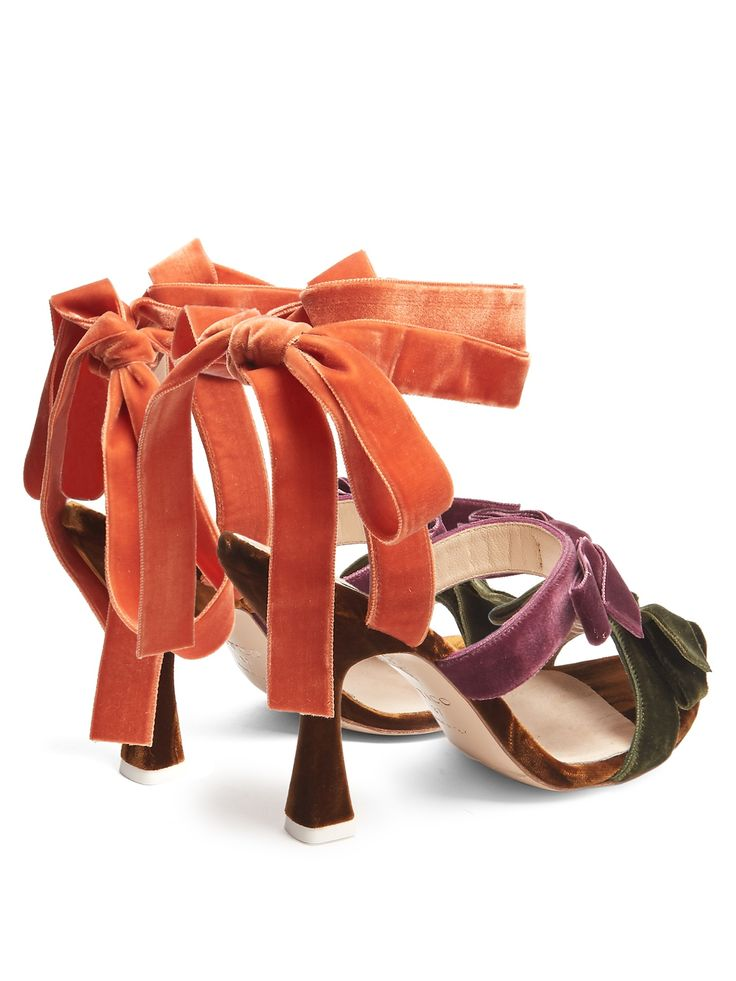 Click here to buy Attico Diletta bow-embellished velvet sandals at MATCHESFASHION.COM