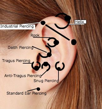 Facial piercings names and pictures