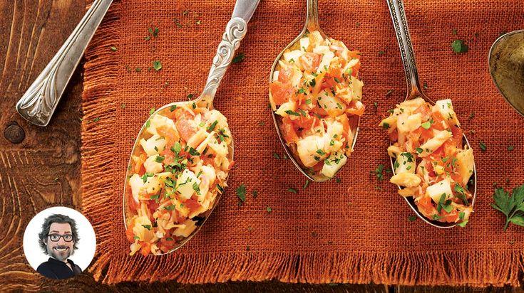 Pour un apéro tout en fraîcheur, essayez cette recette facile de bouchées aux deux saumons à l'espagnole de Christian Bégin.