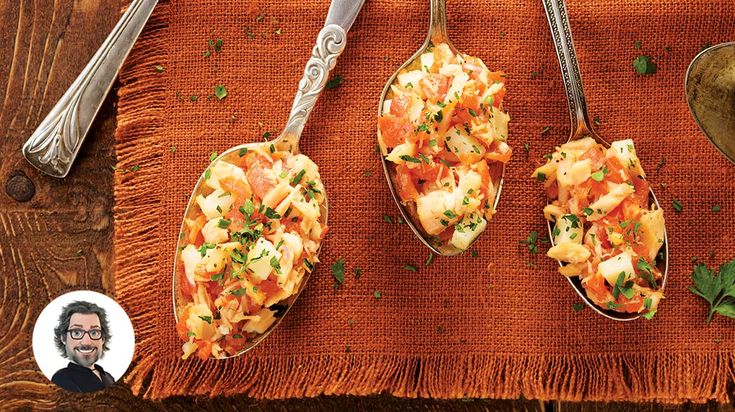 Bouchées aux deux saumons à l'espagnole
