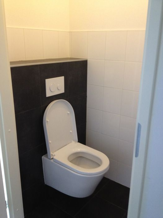 Small Cloakroom Toilet Black And White