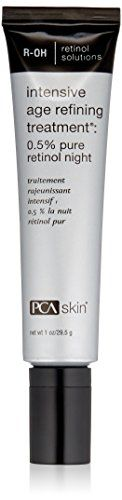 PCA SKIN  Intensive Age Refining Treatment 0.5% Pure Retinol Night, 1 oz. 05% Pure Retinol (Vitamin A) - is converted to retinoic acid in the skin Vitamin A helps to promote a clear complexion and an even skin tone. Glycerophosphoinositol Lysine - is a skin calming agent. Panthenol (Pro-Vitamin B-5) - hydrates the skin.