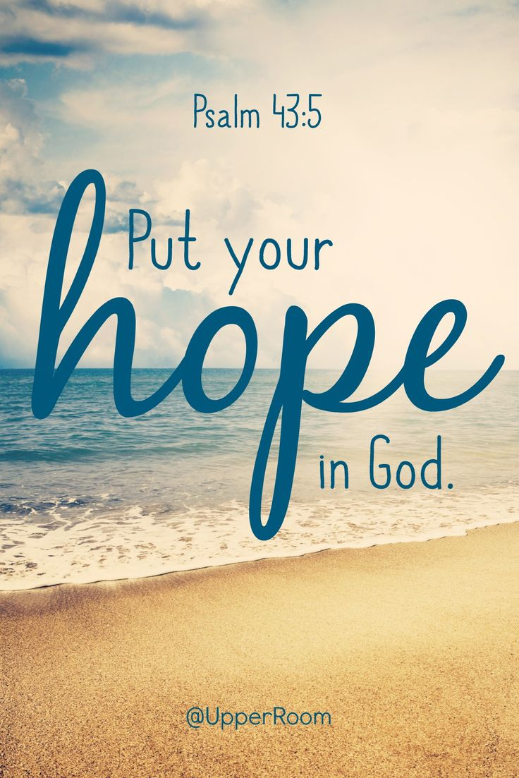 Put your hope in God, for I will yet praise him, my Savior and my God.- Psalm 43:5