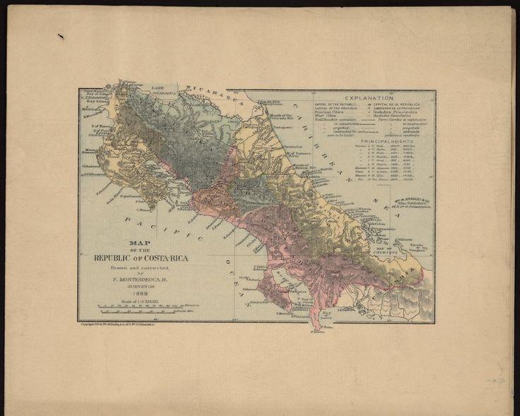 Carte de la République du Costa Rica - Bibliothèque numérique mondiale