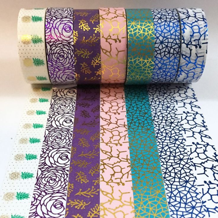 Colorful Foil Collection Washi Tape via Pretty Packages. Click on the image to see more!