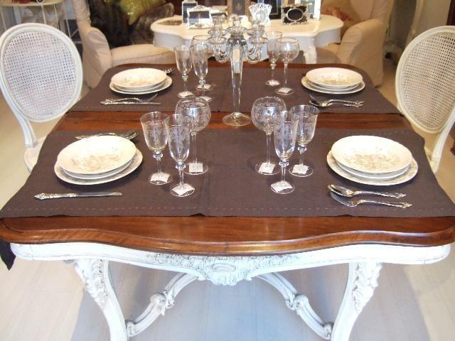 tavolo shabby chic style.luigi xv.epoca 1800. | eBay