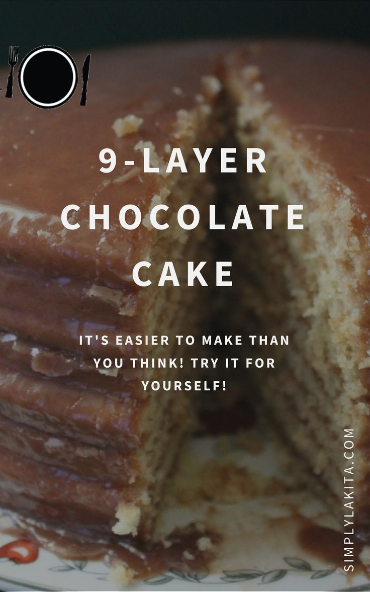 Indulge In A Hearty Serving Of Lip Smacking Layered Chocolate Cake Easy To Make This 9 Is An Absolute Treat Relish And Fulfil Your