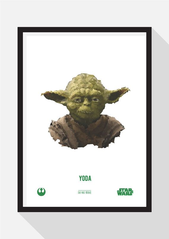 Yoda Portrait by TheDesignCollection on Etsy
