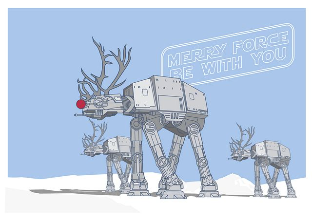 28 Festive Star Wars Christmas Cards
