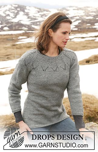 Ravelry: 114-2 jumper with cables and raglan sleeves free double knitting pattern by DROPS design