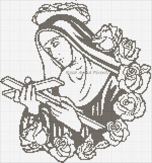Mani Mani - RosaAnna Pironti: Santa Rita da Cascia - Schema per filet