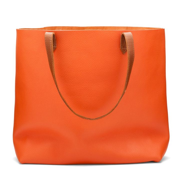 Leather Tote Nectarine- Leather Tote Nectarine | Cuyana Shop