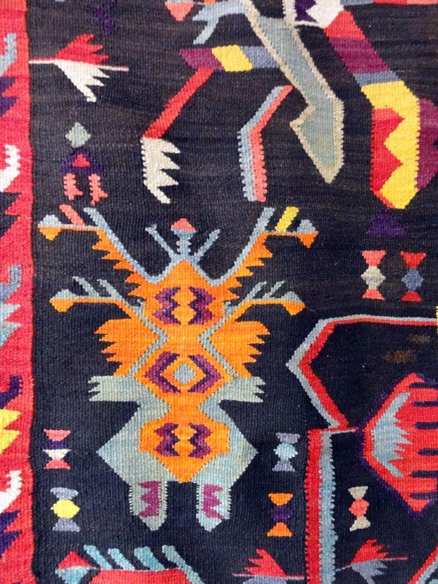Bessarabia / Moldova; romanian rug (detail) in the National Ethnographic Museum, Chisinau