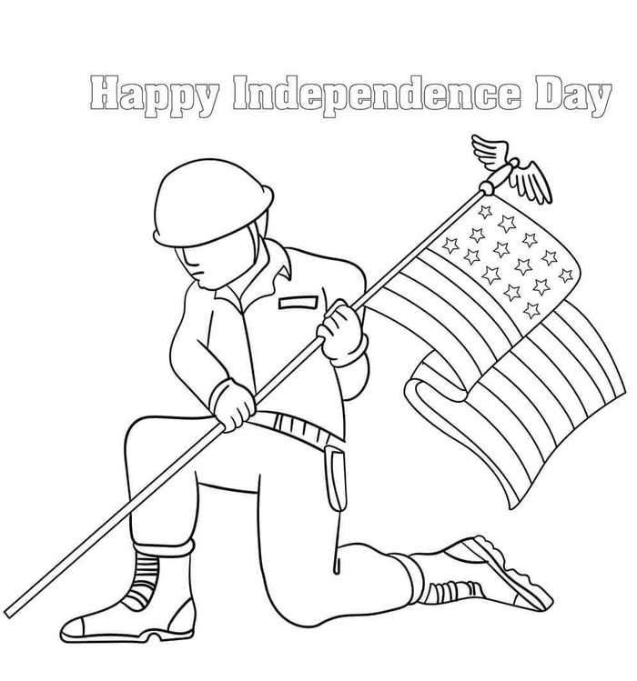 Free Printable Happy Independence Day Coloring Pages Happy Independence  Day, Happy Independence, Coloring Pages