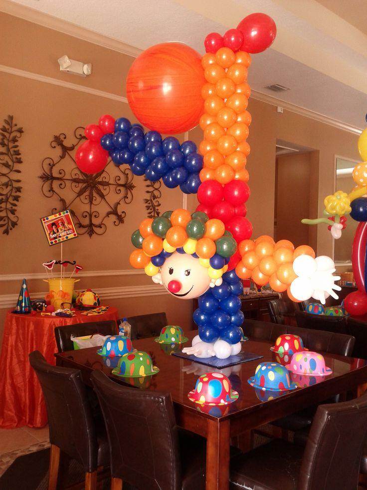 Clown upside down centerpiece dreamarkevents