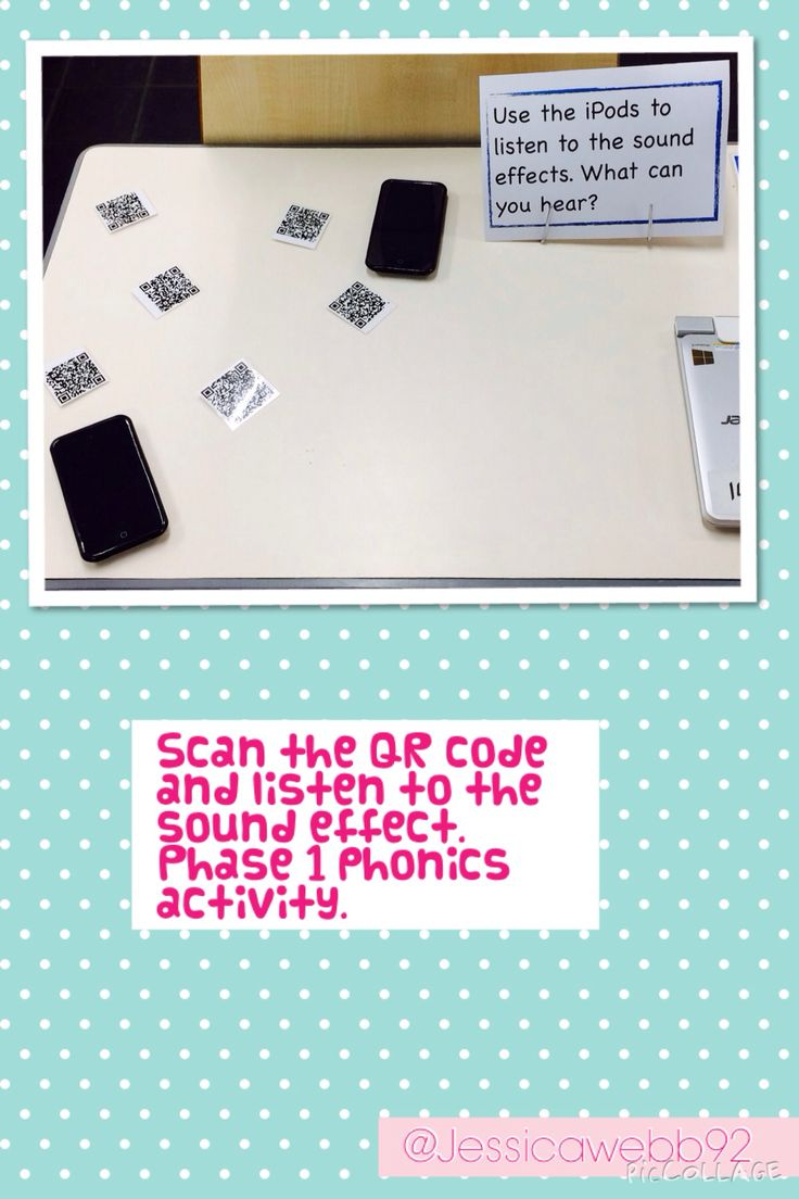 Scan the QR code and listen to the sound effect. Phase 1 phonics activity. EYFS