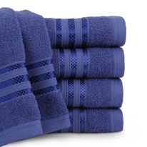 toalha de banho santista royal patter - azul