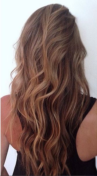 sunkissed brunette highlights - hair color ideas