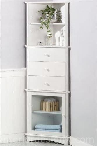 Corner Bathroom Storage Cabinet Voguish Bathroom Storage White Corner Storage Cabinet All About The Goods Corner