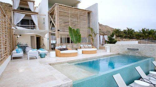 Fotos casas con piscinas moderna buscar con google for Fachadas de casas modernas en lima
