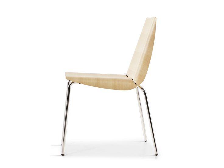 Multi Layer Wood Chair MILLEFOGLIE Millefoglie Collection By Plank | Design  Cisotti Laube