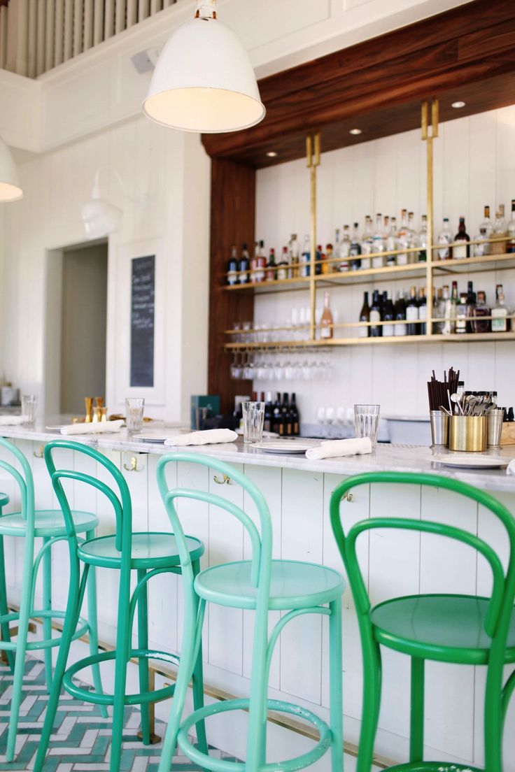 tour this gorgeous green and white bar in seattle | bar melusine via coco kelley