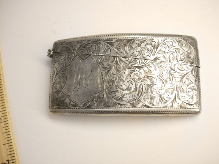 114 best dance card business playing card holders images on rare antique victorian sterling silver hallmarked engraved curved card holder from the 1800s 13500 colourmoves