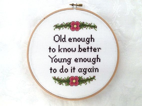 Age cross stitch pattern snarky needlepoint by TheCompassNeedle