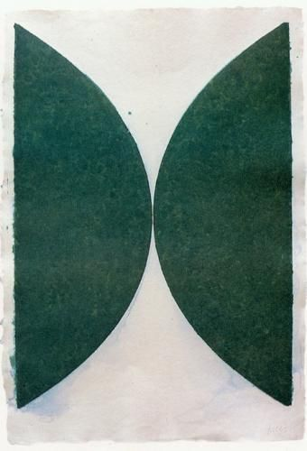 """Green Curves"" (1951). Ellsworth Kelly. Minimalism"