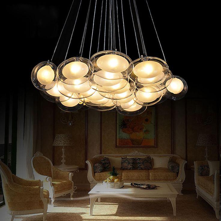 Современный Творческий стекла пузырь мяч кулон художника лампа люстра гусиного яйца спальня романтический ресторан подвесной светильник крытый свет(China (Mainland))