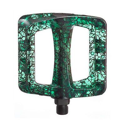 """Odyssey Twisted PC Crackle Pedals 9/16"""" - Green BMX Pedals - Bike Pedals"""