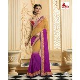 violet-and-gold-shaded-saree-with-red-contrast-blouse-from-muhenera-1210