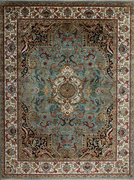 Golden Age Jewel Samad Hand Made Carpets Blue Rugs