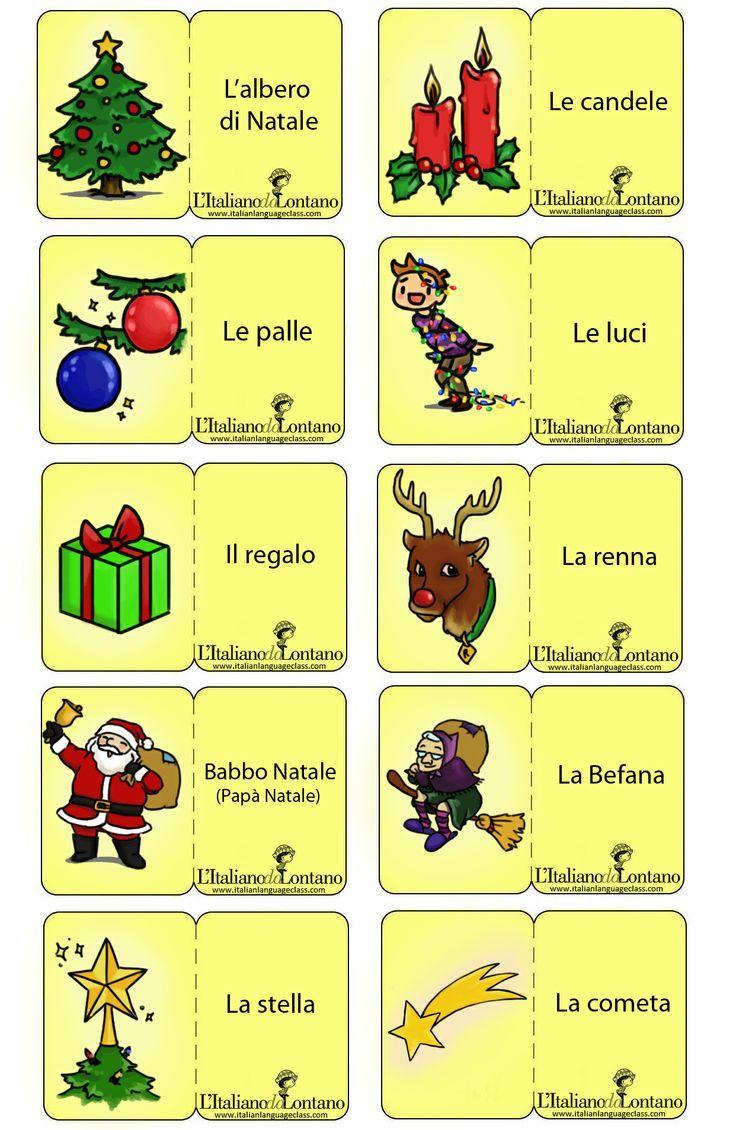 Le #flashcard di #Natale, per decorare l'albero in #italiano!: