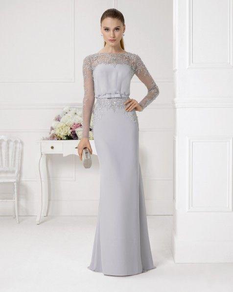 Vestido+y+chal+de+gasa+y+pedreria.+Color+cobalto,arena,plata,turquesa+y+rojo.