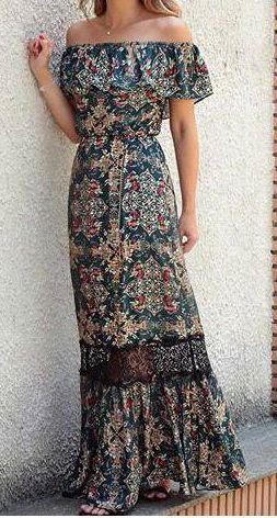 Vestido longo com babado no decote – DIY – molde, corte e costura – Marlene Mukai Mais