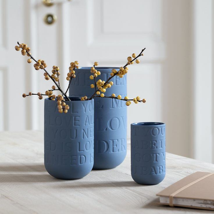 The wonderful love songs on all Love Song vases add a touch of sweetness and charm to the raw look.