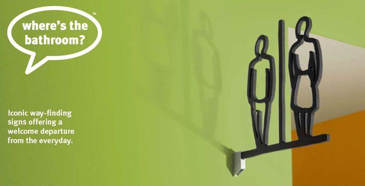 1.Whymsical 3.http://www.whereisthebathroom.com 4. beautiful elegant symbols for man and woman.