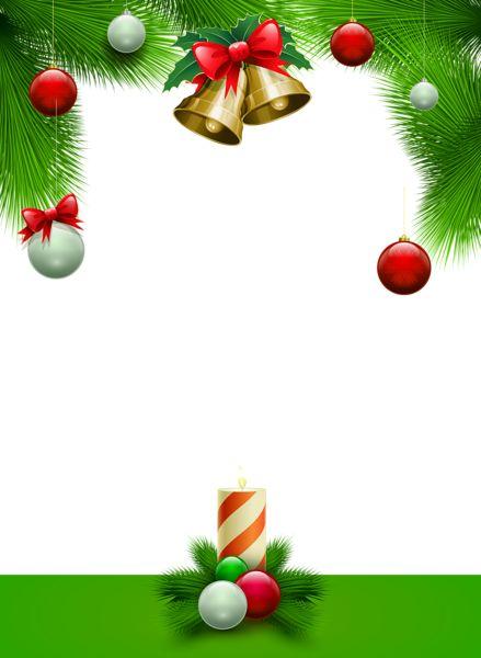 Christmas Transparent Green PNG Photo Frame