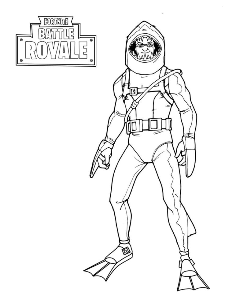 Fortnite skins coloring pages blake birthday invitation for Fortnite disegni da colorare