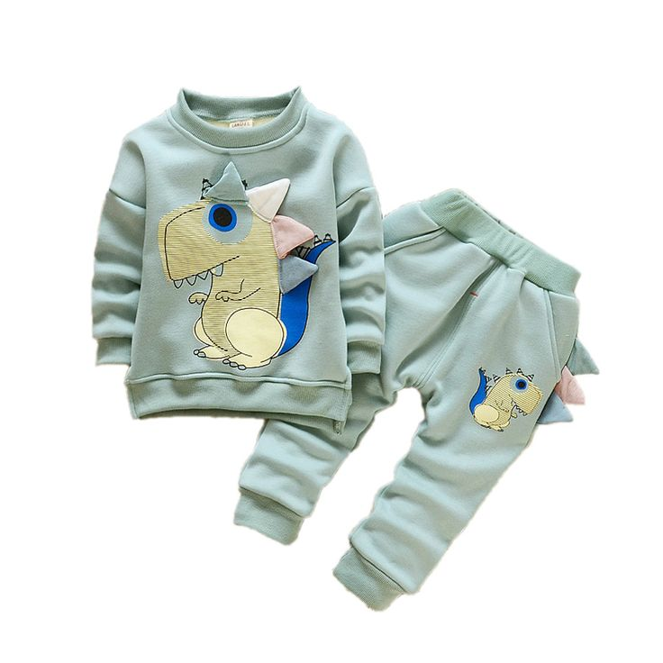 >> Click to Buy << cute causal baby boy sweatshirt pants set little monster clothes set for 6-36Month boys baby newborn coat infantil clothes set #Affiliate