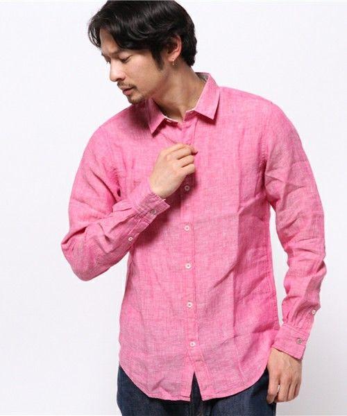 DESTRAD/RUPERT(デストラッド/ルパート)のフレンチリネンシャツ(シャツ/ブラウス)|ピンク