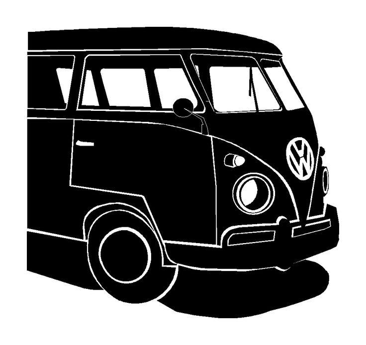 Vw Bus Silhouette Art Volkswagen Volkswagon Van Vw Bus