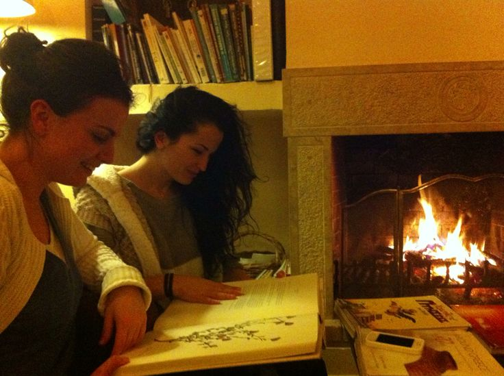 Warm cozy evening by the fireplace!   #fireplace #eleonashotel
